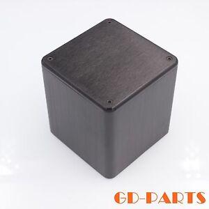 Black-Aluminum-Transformer-Triode-Protect-Cover-Enclosure-Case-110x110x116mm-1PC