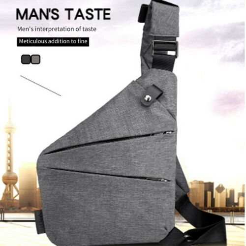 US Men Fashion Sport Chest Backpack Crossbody Shoulder Bag Personal Anti-theft