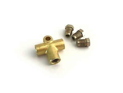ASC 3 WAY 10mm T Piece Brake Clutch T 3//16 Pipe METRIC M10 Pipe Connector FEMALE