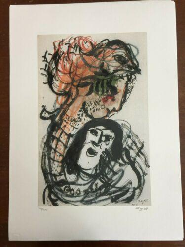 Chagall Marc Litografia cm 50x70 con fotoautentica SPADEM firma matita PROMO!!!