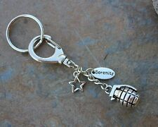 Firefly Serenity Keychain with Grenade and Star charms - Sci Fi Fans