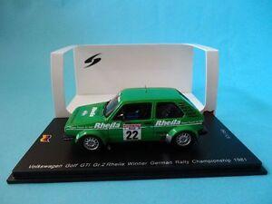 VOLKSWAGEN-VW-GOLF-GTi-Gr-2-22-STOCK-RALLY-HUNSRUCK-1981-1-43-NEW-SPARK-SG070