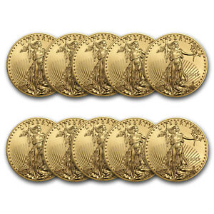 Bank Wire Payment. 2018 1 oz Gold American Eagle BU (Lot of 10) - SKU #162739