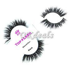 Unqiue1Pair Black 100% Real Horse Hair Thick Long Eye Lashes False Eyelashes M1