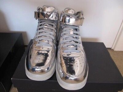 NIKE AIR LUNAR FORCE Argento in Metallo Liquido ONE SP UK10