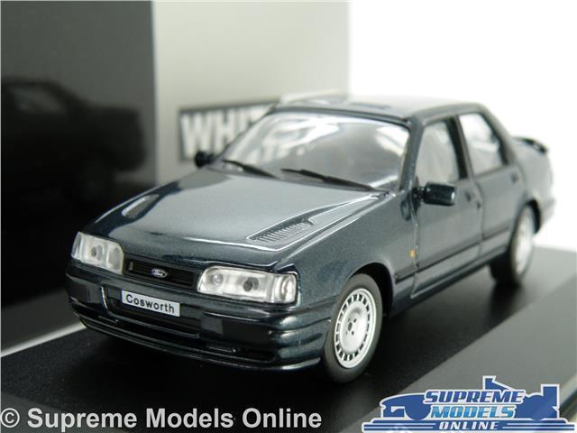 FORD SIERRA COSWORTH MODEL CAR 1 43 SCALE blueE SALOON 1990 WHITEBOX K8