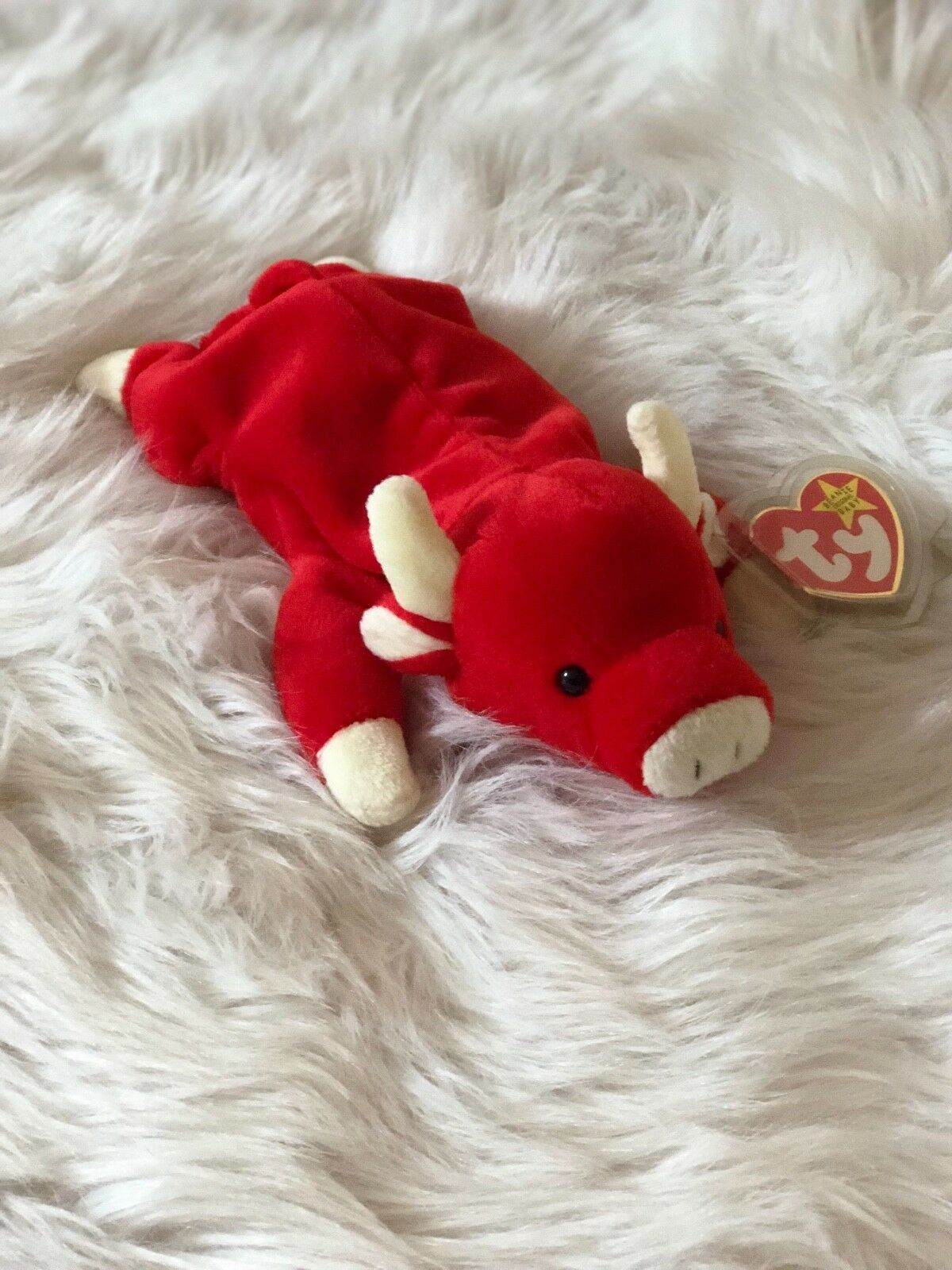 Snort the Bull • ORIGINAL ORIGINAL ORIGINAL TY Beanie Baby • 1995 Retired • EXCELLENT CONDITION e94263