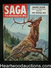 Saga Nov 1952 Harvey Kidder Cover, Car racing, Herb Mott - High Grade