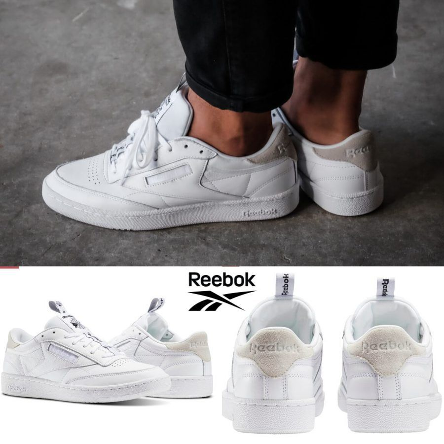 Reebok Classic Club C 85 IT shoes Sneakers White BS6212 SZ 4-12.5