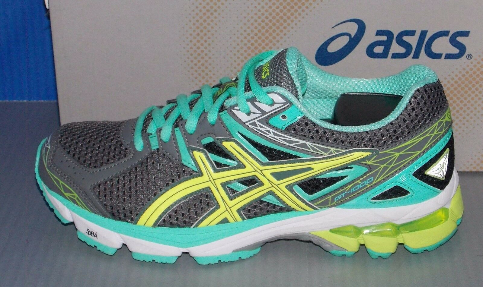 donna ASICS GT GT GT - 1000 3 in colores CHARCOAL   giallo   MINT Dimensione 6.5 10ff16