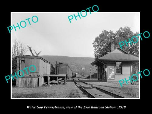 OLD 6 X 4 HISTORIC PHOTO OF WATER GAP PENNSYLVANIA ERIE RAILROAD STATION c1910 1