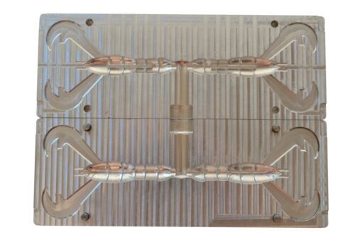 3.8″ CNC Mold DIY Injection Aluminium Bait Mold Rage Craw 2 cavity 95 mm