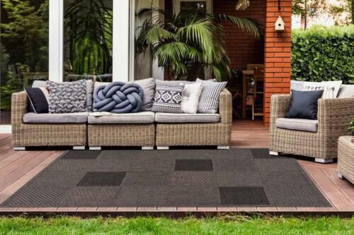 Teppich Flachflor modern Outdoor-//Indoor mit Sisal-Optik in Taupe Wohnzimmer