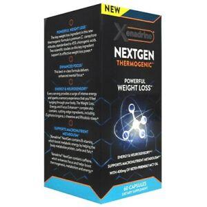 Muscletech XENADRINE NEXT GEN Fat Burner Weight Loss Energy Focus 60 caps w/ MCT