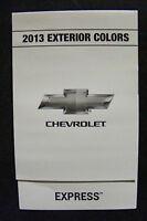 2013 Chevrolet Express Dealership Exterior Color Chart