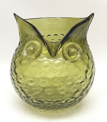 Rare Multi Color Art Glass Owl