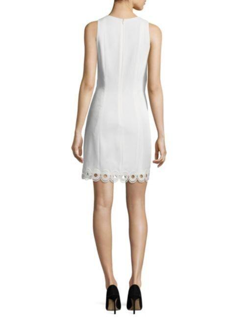 395 Shoshanna Shoshanna Shoshanna Optic White Scalloped Lace Popover Shift Dress 10 NWT S375 d52f32