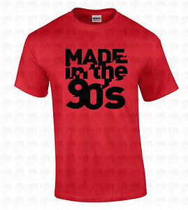 212adaac192bb0 MADE in the 90 s Men s T-SHIRT Birthday Gift Retro College Humorous ...