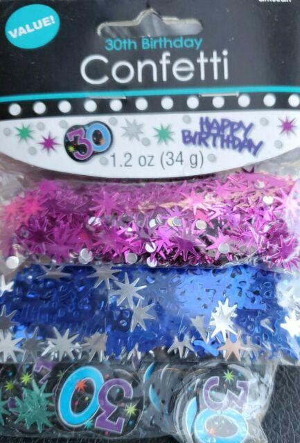 Birthday Age 70 Confetti Metallic Colorful Table Decoration Fun Milestone Party