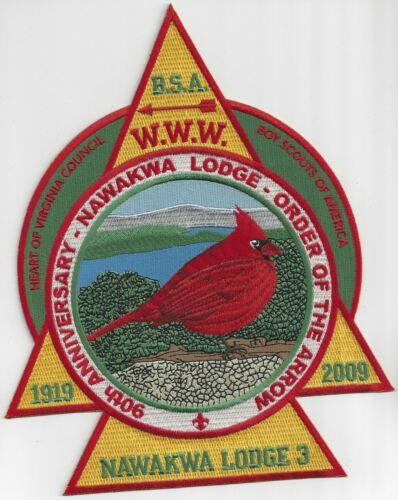 Nawakwa Lodge 3-90th Anniversary Back Patch