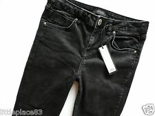 River Island Ladies Jeans Size 10 R super skinny black ankle grazers rips 30/27