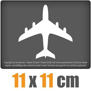 El-avion-de-11-x-11-cm-JDM-decal-sticker-coche-car-blanco-discos-pegatinas