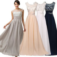 Womens Formal Long Maxi Evening Ball Gown Graduation Party Prom Bridesmaid Dress
