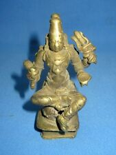 Antique Rare Old South Indian Brass Hindu Food Goddess Statue With Weapon Figure