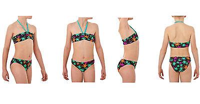 Tribord Bandeau Mädchen Bademode Bikini-set Swimming Set, Palm, Gr. 152-176 Weder Zu Hart Noch Zu Weich