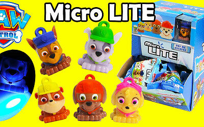 """PAW PATROL MICRO LITE 1.5"""" KEY LIGHT - CHOOSE YOUR PUP - 1 PER ORDER NEW SEALED"""