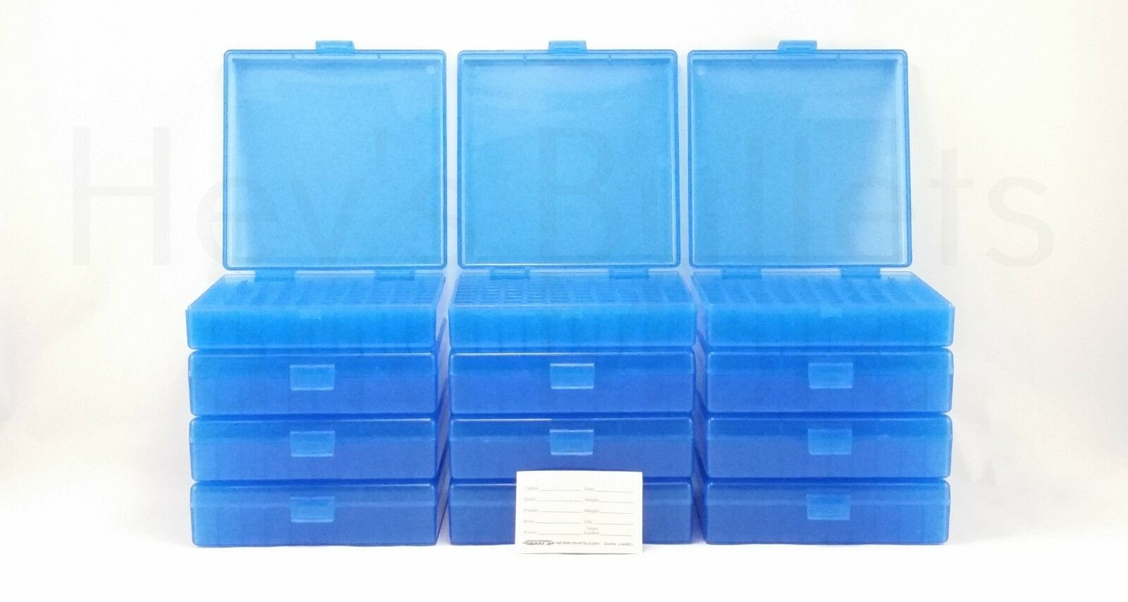 BERRY'S PLASTIC AMMO BOXES (12) blueE 100 Round 40 S&W   45 ACP - FREE SHIPPING