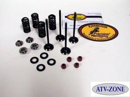 KibbleWhite Valves with Spring Kit /& Seals Honda TRX450R TRX 450R 04-05 Oversize