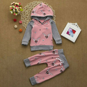 2PCS-Toddler-Baby-Boys-Girls-Deer-Print-Hoodie-Tops-Pants-Outfits-Sets-Clothes
