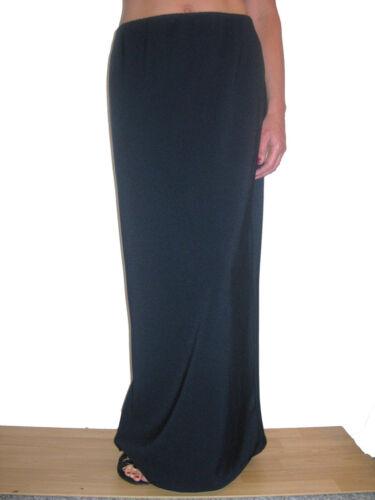 smart long stretch skirt navy size 10-22 NEW 2239