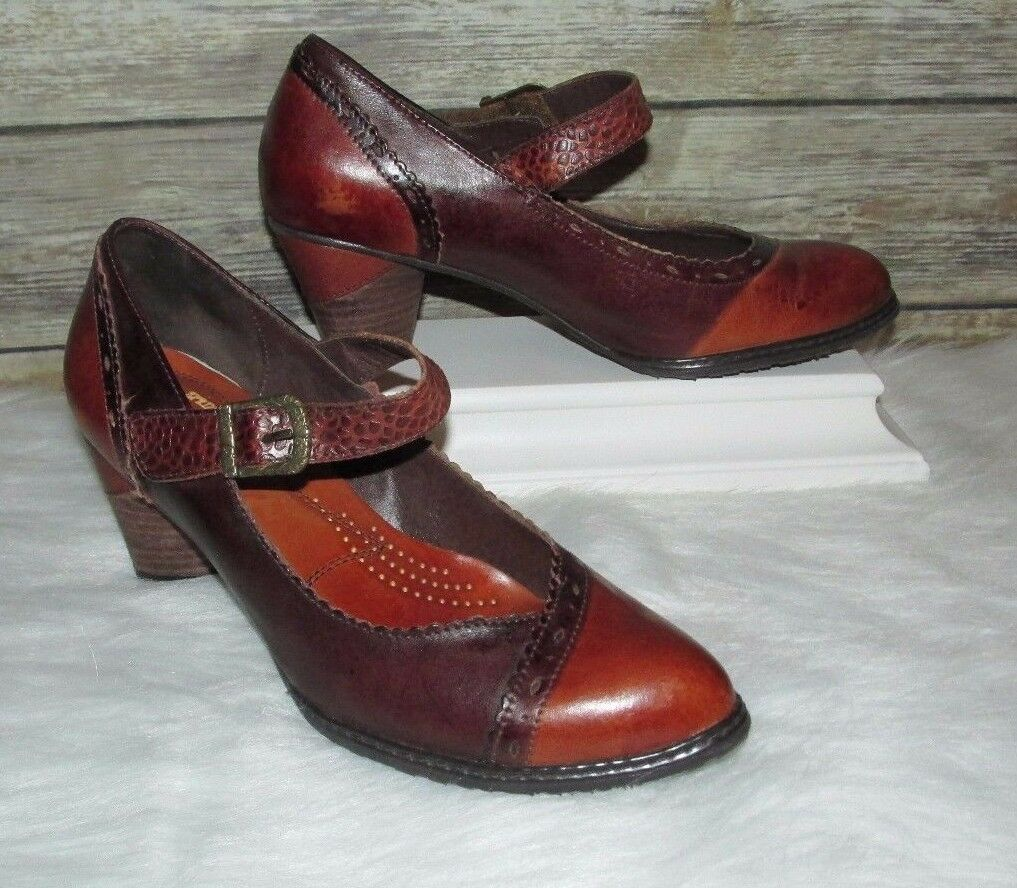 L& 039;artiste Spring Step Ostentatious Brown Leather Sz 10 41 Mary Jane Pump Heels