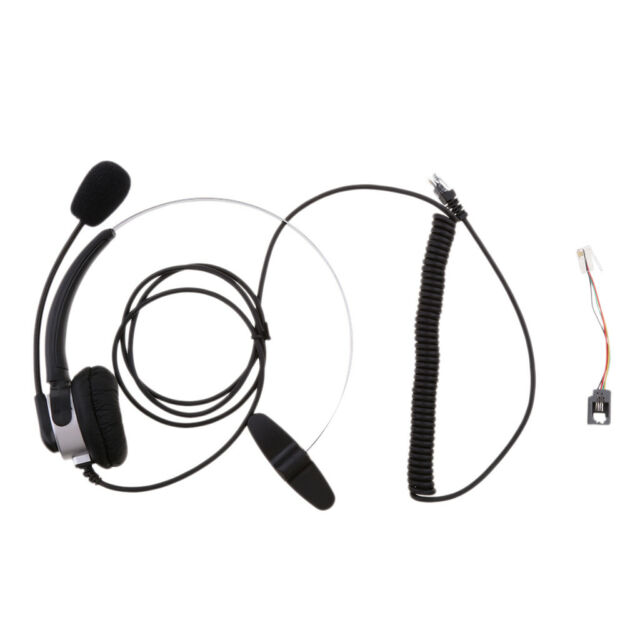 Hands 4 Pin Rj9 Binaural Telephone Headset Universal Call Center With Mic For Sale Online Ebay
