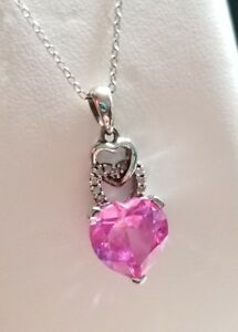 0a70a60f4b067 Kay Jewelers Kays Sterling silver Pink Heart diamond pendant ...