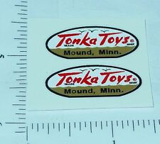 Pair 1958 to 1961 Tonka Oval Logo Stickers      TK-001C