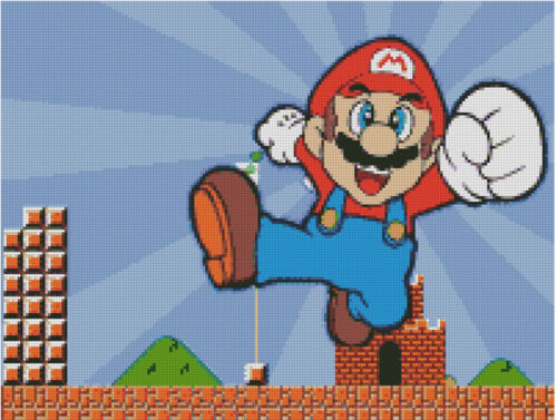 pattern Cross stitch chart Super Mario Brothers