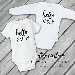 Pregnancy announcement gift box  hello daddy suprise pregnancy reveal daddy Onesie\u00ae gift pregnancy announcement to husband