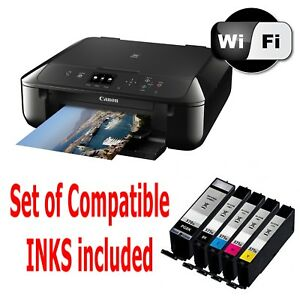 05 CANON Pixma MG5750 All in One WIRELESS PRINTER SCANNER COPIER with inks 454929203712