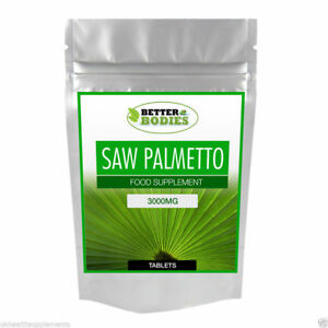 Saw-Palmetto-3000-MG-ad-alta-resistenza-Compresse-disponibile-nella-gamma-di-taglie-30-1000