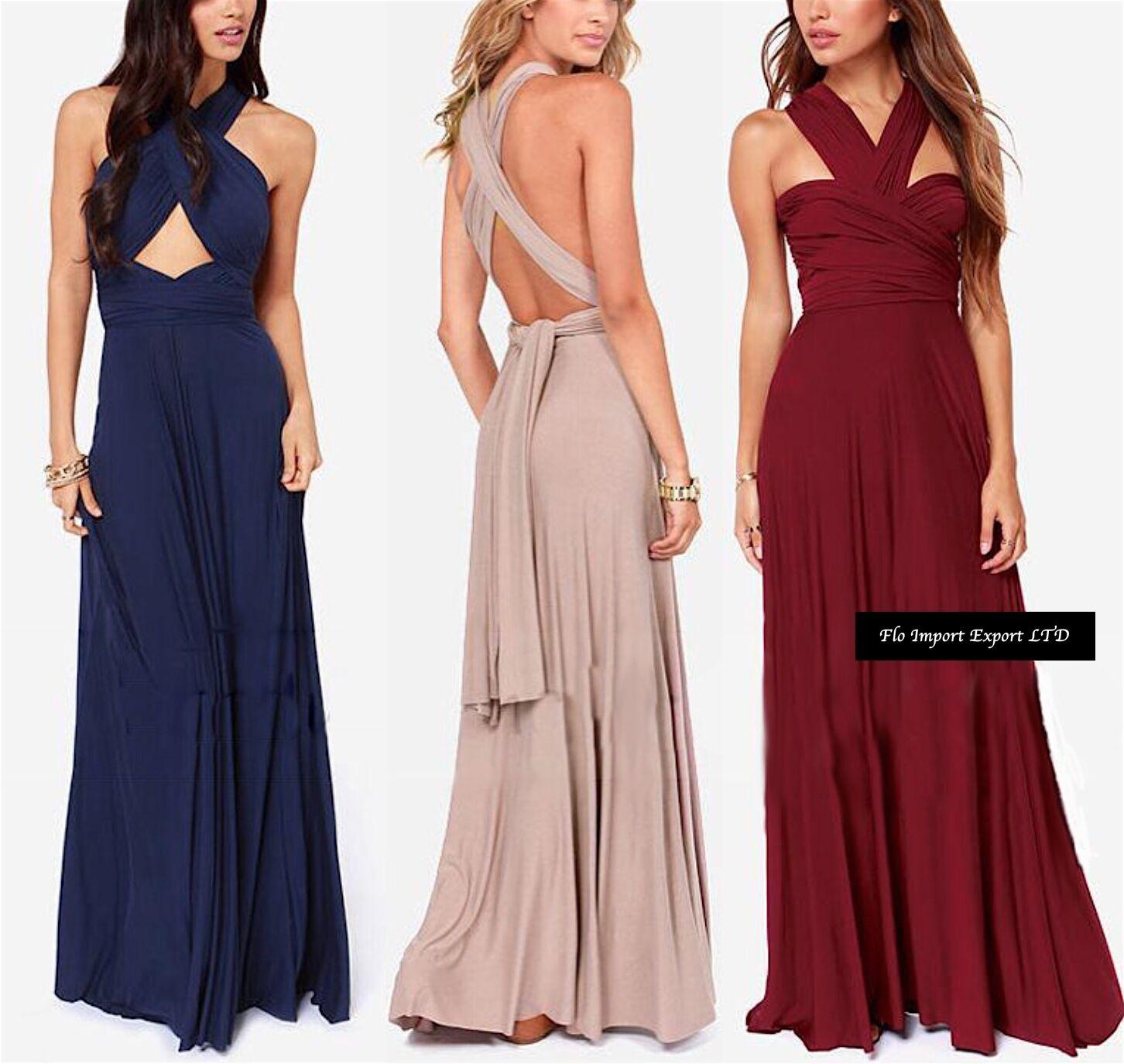Vestito Lungo women Trasformabile Woman Maxi Dress Different Wears 110178 SAWNB
