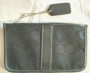 Coach-Black-Zippered-Bag-Pouch-with-Hang-Tag