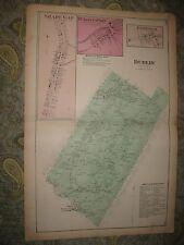 ANTIQUE 1873 DUBLIN TOWNSHIP SHADE GAP HUNTINGDON COUNTY PENNSYLVANIA MAP RARE