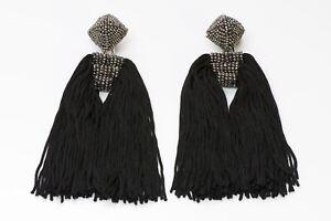 Sachin-amp-Babi-Black-Tassel-Earrings