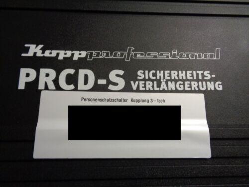 1 x Kopp Personenschutzschalter PRCD-S