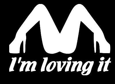 """I/'M Loving It McDonald/'s Funny car bumper sticker window decal JDM 2/"""" x 2/"""""""