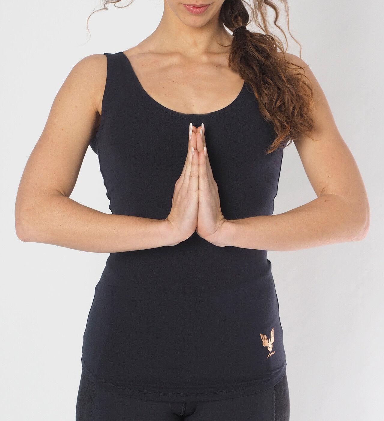 Yoga-top  sati  - Anthracite Grau von Kismet Yogastyle    Starke Hitze- und Hitzebeständigkeit
