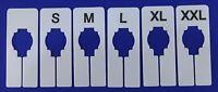 1 -set Clothing Rack Rectangular Size Divider S M L Xl Xxl & Blank Retail Store